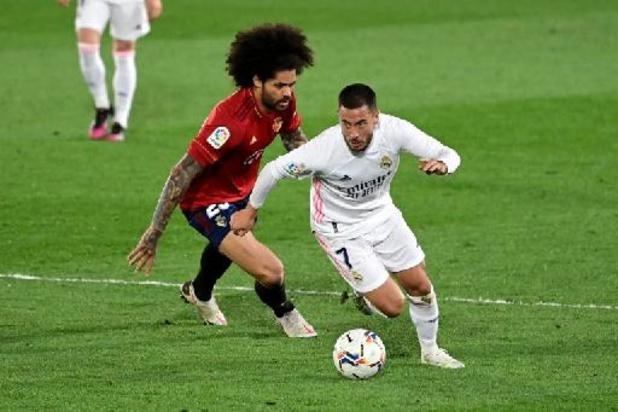 Eden Hazard mist titelmatch van Real Madrid