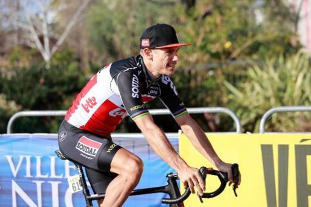 Philippe Gilbert leader d'une jeune équipe Lotto Soudal samedi pour la reprise WorldTour