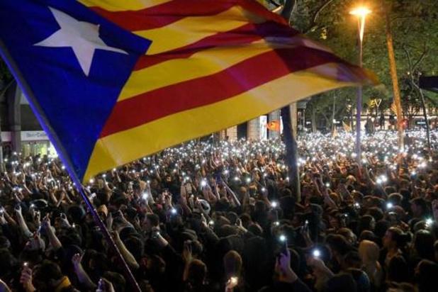 Crisis Catalonië - Opnieuw zware protesten tegen veroordeling separatisten