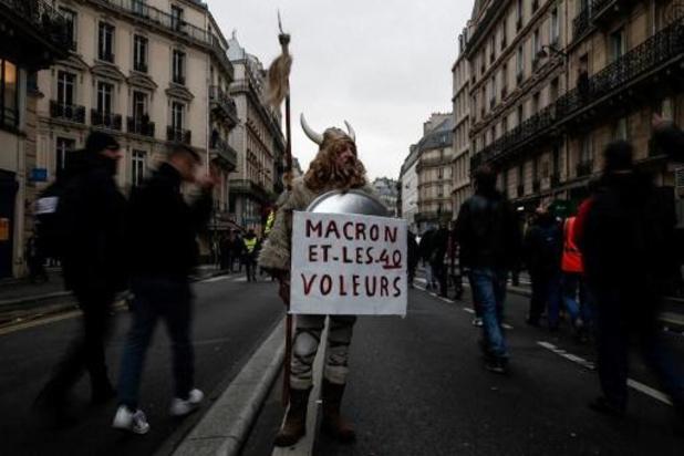 Opnieuw honderdduizenden mensen op straat in Frankrijk tegen pensioenhervorming