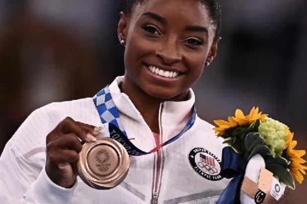 Retour à la maison chargé d'émotion pour Simone Biles après des Jeux chahutés