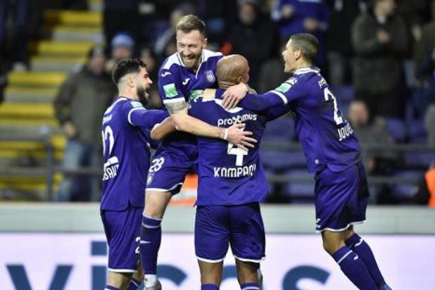 Jupiler Pro League - Anderlecht houdt na vlotte zege tegen Eupen hoop op PO 1 levend