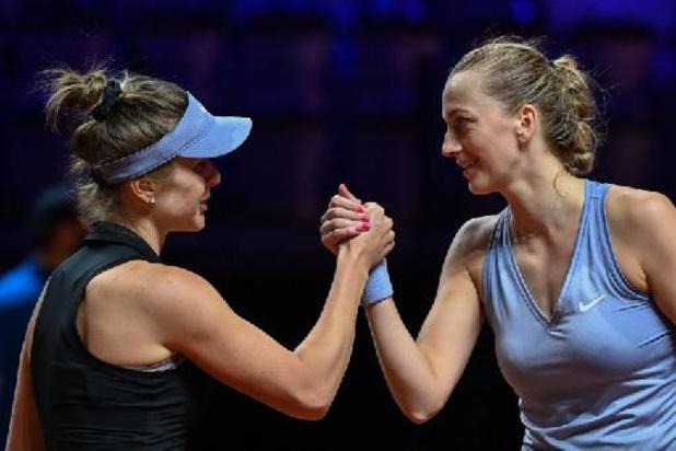 Titelverdedigster Kvitova strandt in kwartfinales WTA Stuttgart