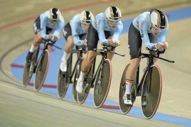 Belgische vrouwen grijpen in ploegenachtervolging naast olympisch ticket