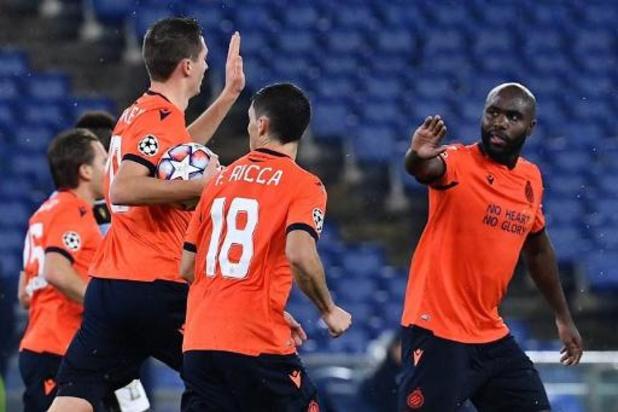 Ligue des Champions - Le Club Bruges éliminé de la C1 après un partage à la Lazio