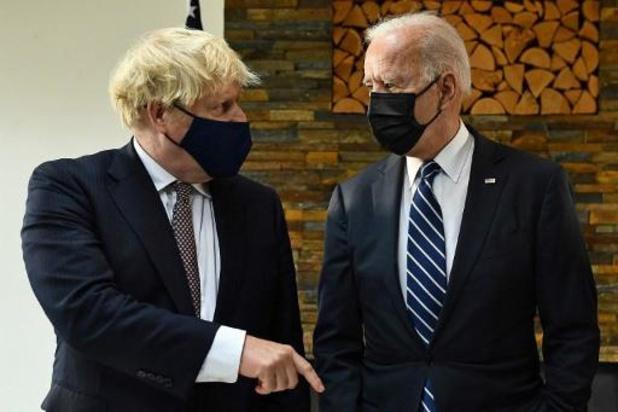 """Johnson spreekt van """"gemeenschappelijke visie"""" over Noord-Ierland na ontmoeting met Biden"""