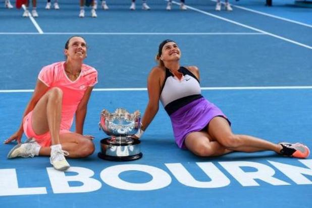 Après leur sacre australien, Mertens et Sabalenka disputeront moins de tournois du double