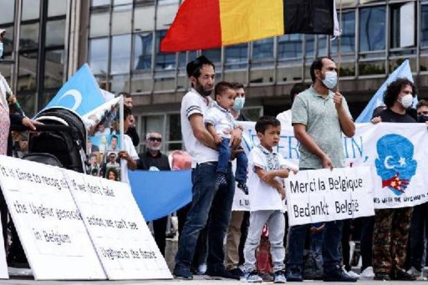 Manifestation à Bruxelles pour la reconnaissance du risque de génocide des Ouïghours