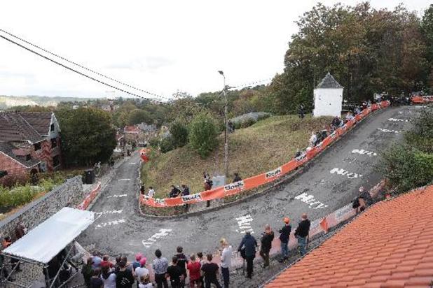 Le Mur de Huy fermé au public lors de la Flèche wallonne