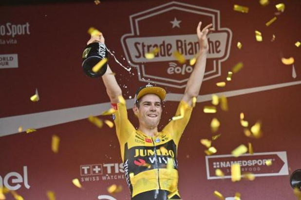 """Strade Bianche - Wout van Aert vainqueur en solo à Sienne: """"L'attaque est la meilleure défense"""""""