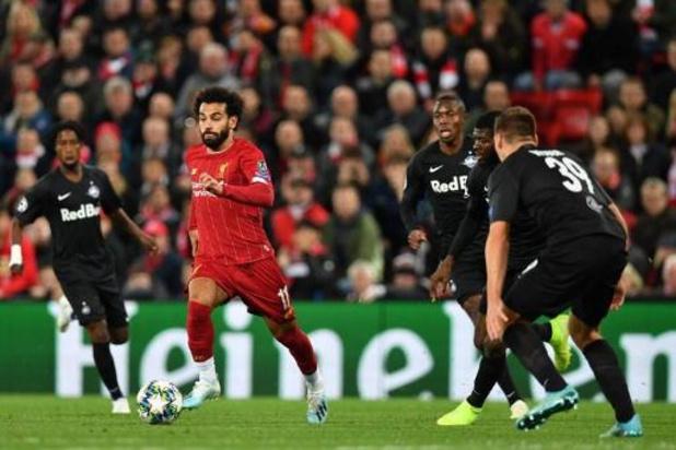 Belgen in het buitenland - Liverpool wint van Salzburg na doelpuntenfestijn