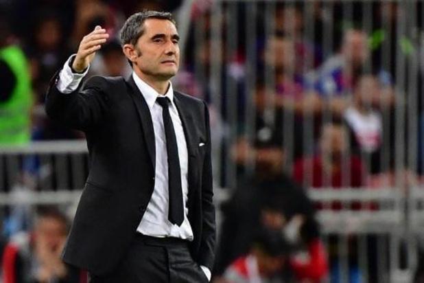 Réunion de crise au Barça au sujet de l'entraîneur Ernesto Valverde