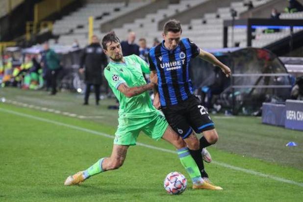 Bruges défie la Lazio pour décrocher l'un des sept tickets restants pour les 8e de finale
