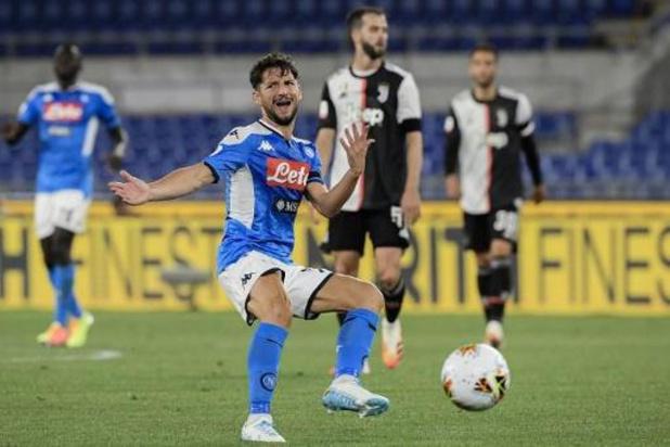 Coupe d'Italie - Naples et Dries Mertens gagnent la Coupe d'Italie aux dépens de la Juve