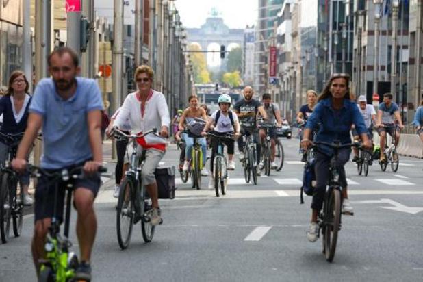 Les Bruxellois ont profité d'une bouffée d'air frais grâce au dimanche sans voiture
