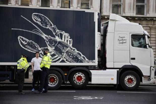 Des pêcheurs en colère contre le Brexit manifestent à Londres