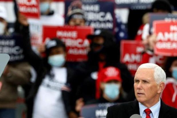 Amerikaanse presidentsverkiezingen - Vicepresident Pence en zijn echtgenote brachten stem uit