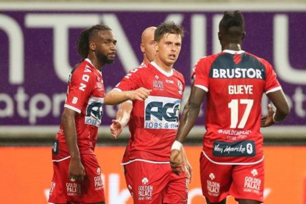 Jupiler Pro League - AA Gent start seizoen met nul op zes na thuisnederlaag tegen KV Kortrijk, Charleroi leider