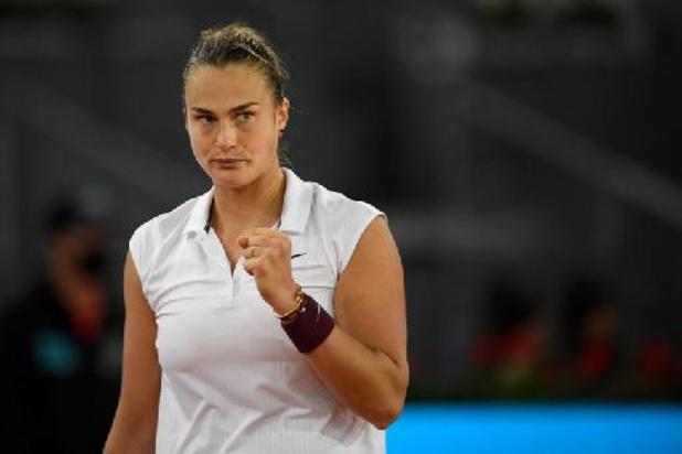 WTA Madrid - Sabalenka treft Barty in finale