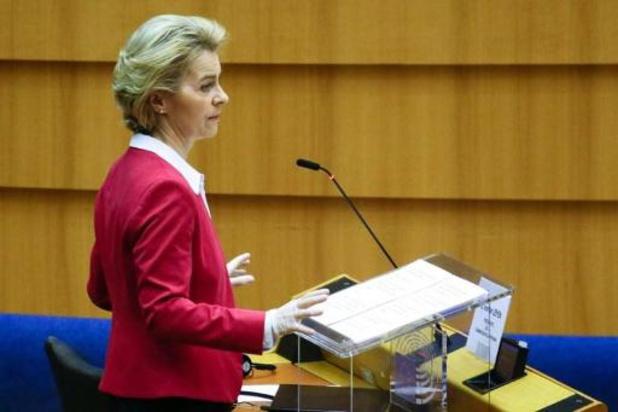 Von der Leyen vraagt lidstaten omzichtig om te springen met noodmaatregelen