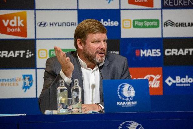 Conference League - Trainer Hein Vanhaezebrouck (AA Gent) blij met kwalificatie