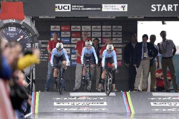 Les Belges en quête d'un podium dans le relais mixte de cyclisme mercredi