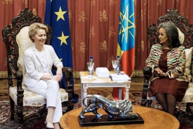 Von der Leyen in Ethiopië voor eerste bezoek buiten Europa