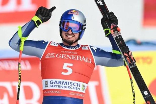 L'Italien Dominik Paris vainqueur de la descente à Garmisch une semaine avant les Mondiaux