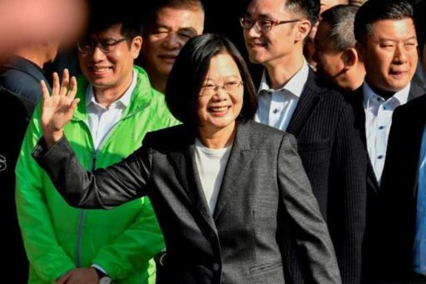 Présidentielle Taïwan: la sortante annonce sa victoire, le principal opposant la félicite