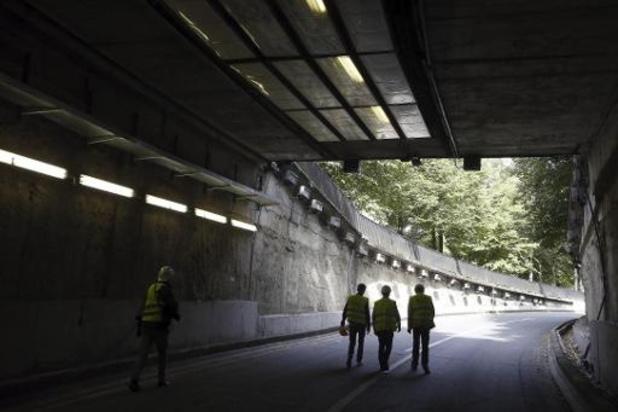 Renovatiewerken aan Leopold II-tunnel worden zondag hervat