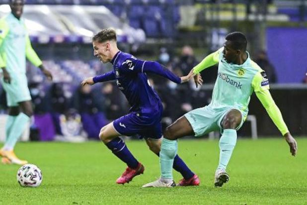 Pas de fracture pour Yari Verschaeren (Anderlecht) mais quatre à six semaines d'absence