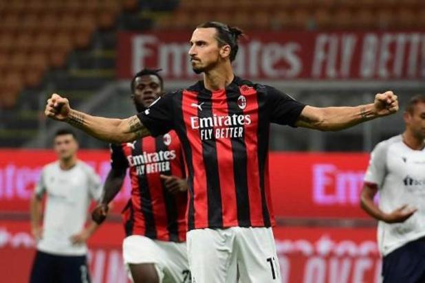 Belgen in het buitenland - Zlatan Ibrahimovic leidt Milan, met invaller Saelemaekers, voorbij Bologna
