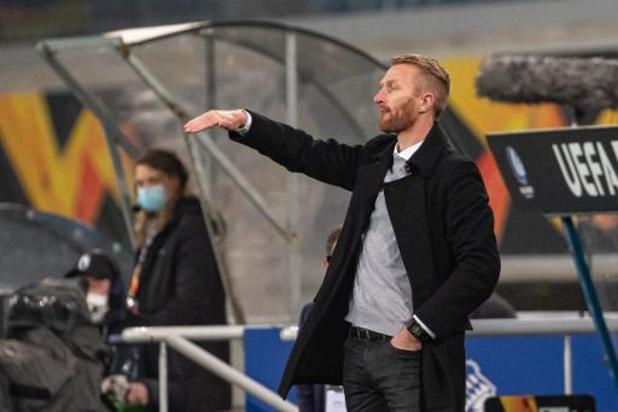 """Europa League - Wim De Decker verwijt zijn groep niets na nieuwe nederlaag: """"De mentaliteit was er"""""""