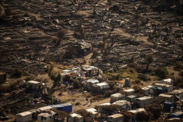 Brand vluchtelingenkamp Lesbos: Celstraf voor twee Afghaanse tieners