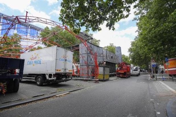 Environ 300 véhicules de forains au départ de la manifestation à Bruxelles