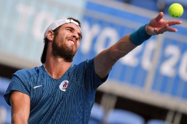 Khachanov is eerste tennisfinalist bij de mannen