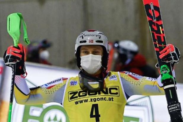Coupe du monde de ski alpin (m) - Henrik Kristoffersen remporte le slalom de Madonna di Campiglio