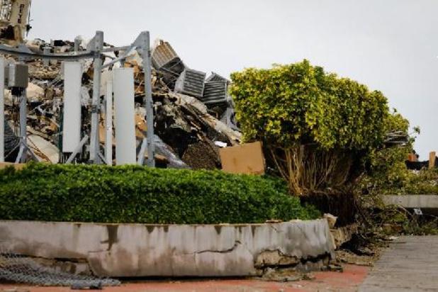 Gebouw ingestort nabij Miami - Zoekactie naar overlevenden ingestort flatgebouw Miami stopgezet