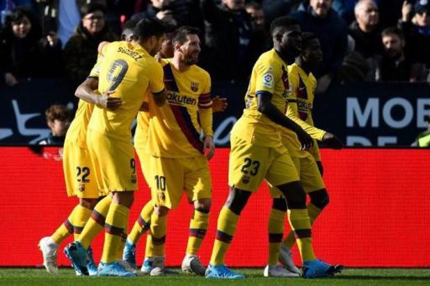 Barcelona haalt opgelucht adem bij hekkensluiter Leganés