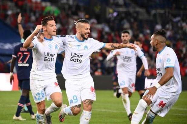 Ligue 1 - PSG verliest ook tweede competitieduel tegen Marseille en eindigt met acht spelers