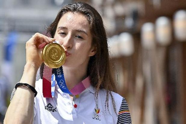 """OS 2020 - Gouden Nina Derwael kreeg heel wat gelukwensen: """"Koning hing aan de lijn"""""""