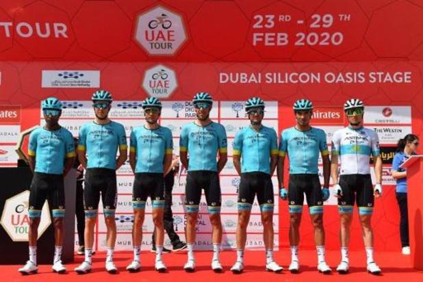 Astana se retire à son tour des courses jusqu'au 20 mars