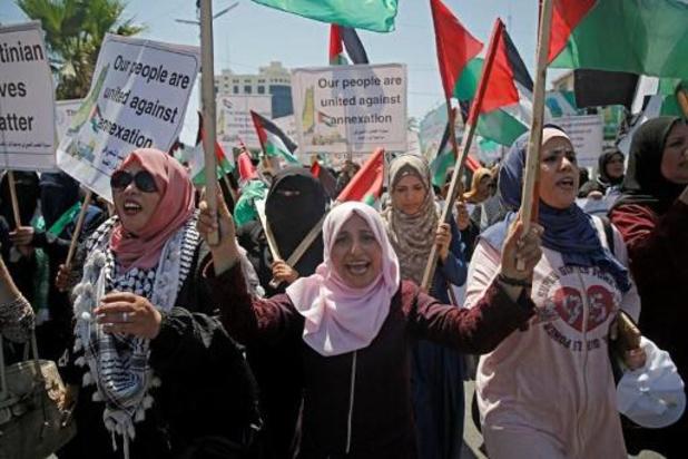 Tienduizenden protesteren op Gazastrook tegen Israëlische annexatie
