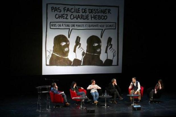 Strasbourg: Charlie Hebdo face au public, l'humour sous haute sécurité