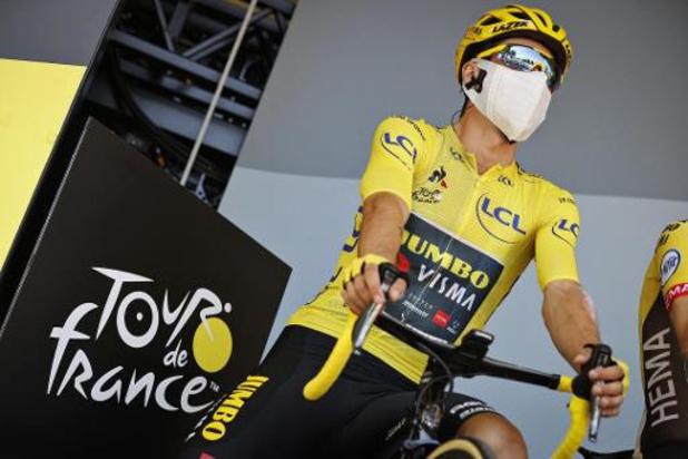 Tour de France - Geletruidrager Roglic was opnieuw onder de indruk van ploeggenoten