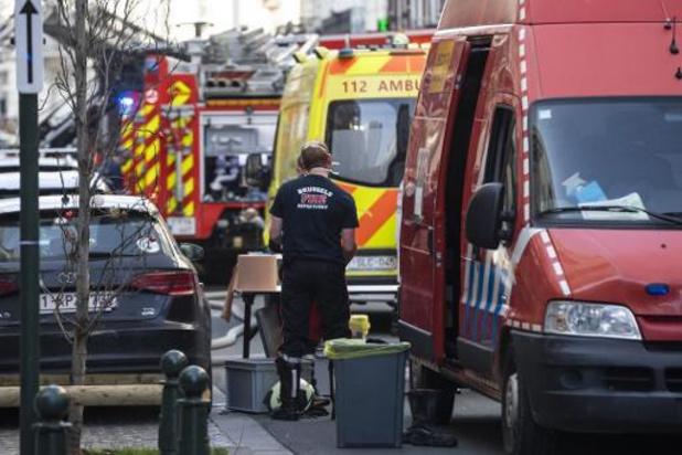 Acht gewonden bij brand in Brussel