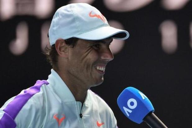 """Nadal n'est pas """"obsédé"""" par la quête du record de 21 Grand Chelem"""