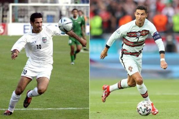 Ali Daei félicite Ronaldo, qui a égalé son record de buts en sélection