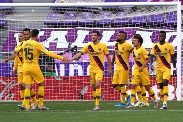 La Liga - FC Barcelona houdt titelstrijd spannend met nipte zege bij Valladolid
