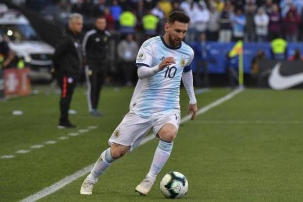 Lionel Messi de retour avec l'Argentine après sa suspension de trois mois